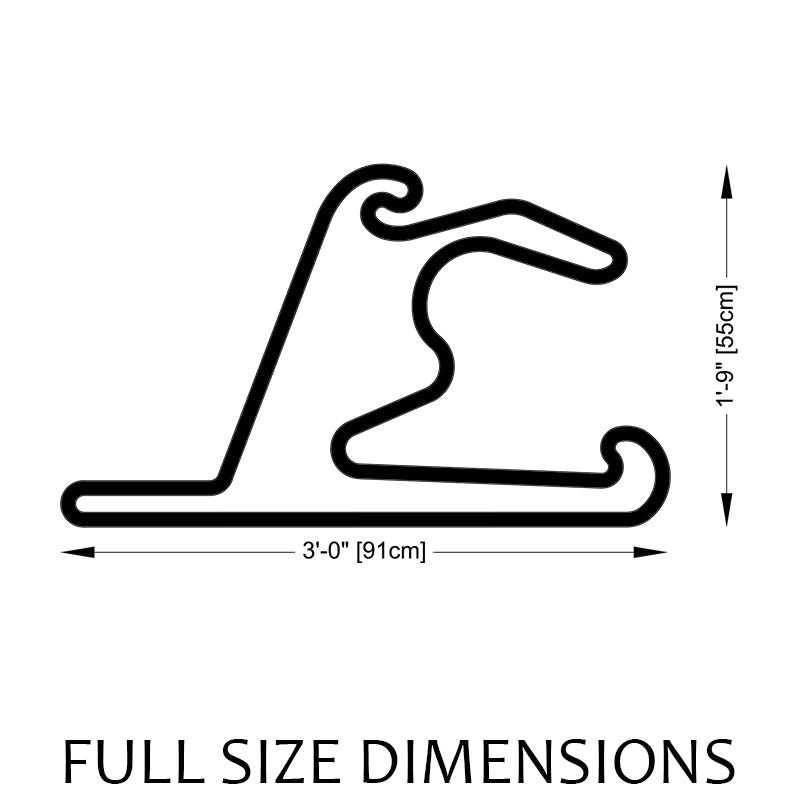 Shanghai International Circuit Track Sculpture Full Size Dimensions