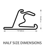 Shanghai International Circuit Track Sculpture Half Size Dimensions