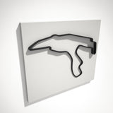 Spa Francorchamps Circuit 3D Track Sculpture Black White