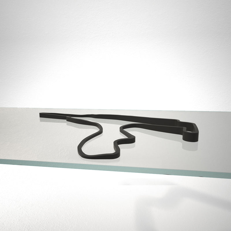 Spa Francorchamps Circuit 3D Track Sculpture Black