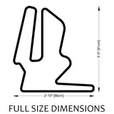 Twin Ring Motegi Track Sculpture Full Size Dimensions