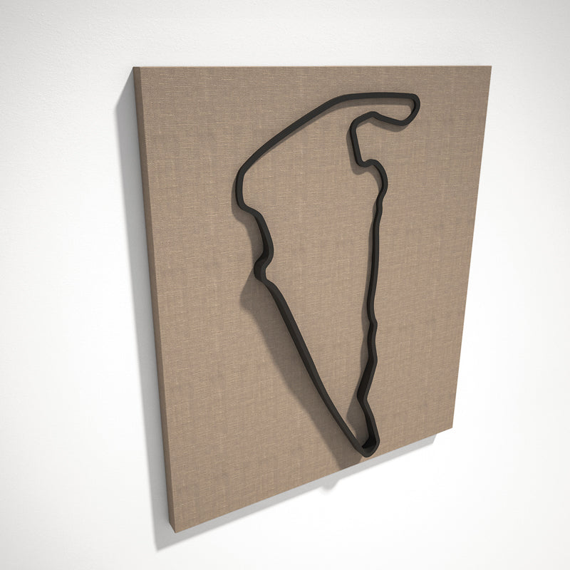 Virginia International Raceway 3D Track Sculpture Black Linen