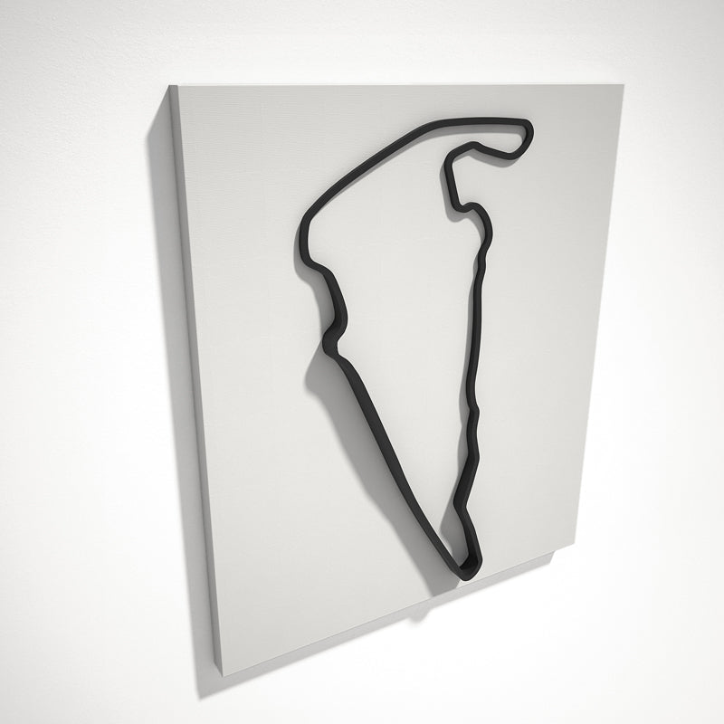 Virginia International Raceway 3D Track Sculpture Black White