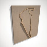 Virginia International Raceway 3D Track Sculpture Tan Linen