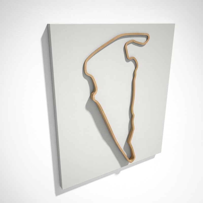 Virginia International Raceway 3D Track Sculpture Tan White