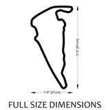 Virginia International Raceway | VIR Track Sculpture Full Size Dimensions