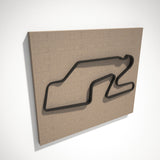 Watkins Glen International 3D Track Sculpture Black Linen