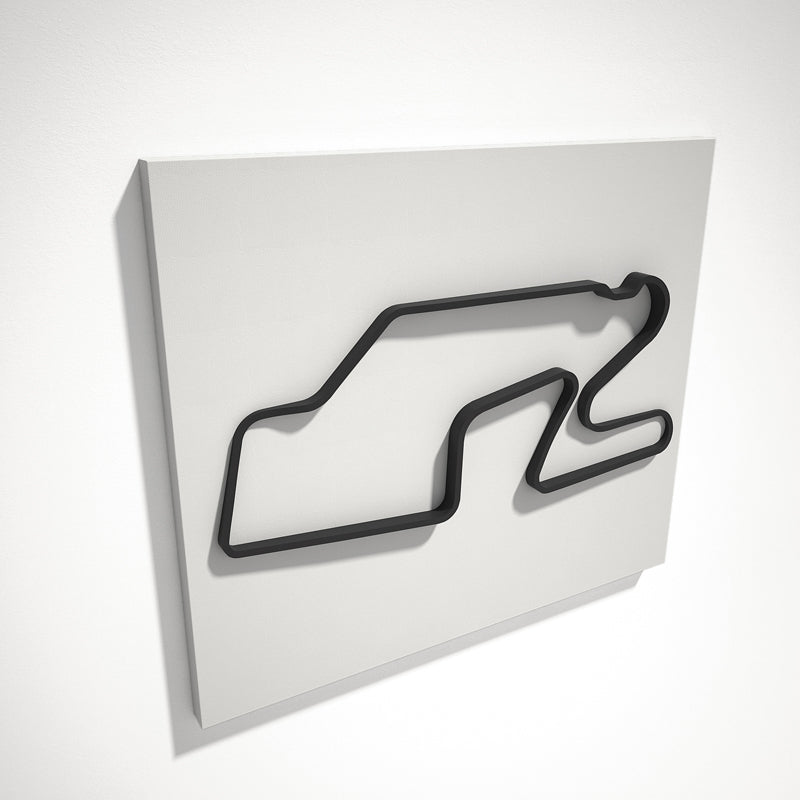 Watkins Glen International 3D Track Sculpture Black White