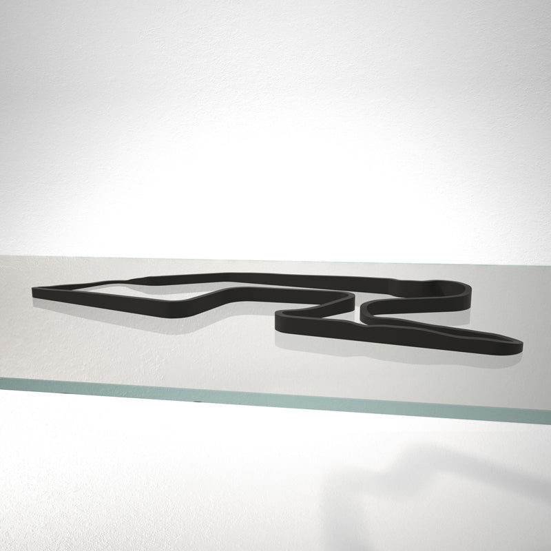 Watkins Glen International 3D Track Sculpture Black