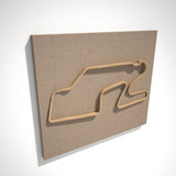 Watkins Glen International 3D Track Sculpture Tan Linen
