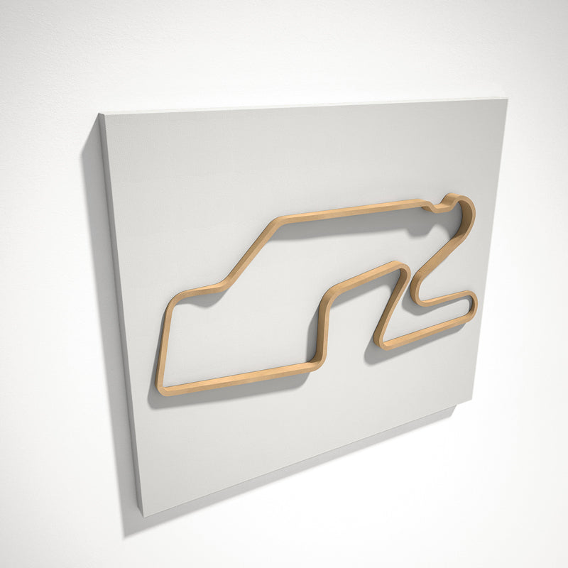 Watkins Glen International 3D Track Sculpture Tan White