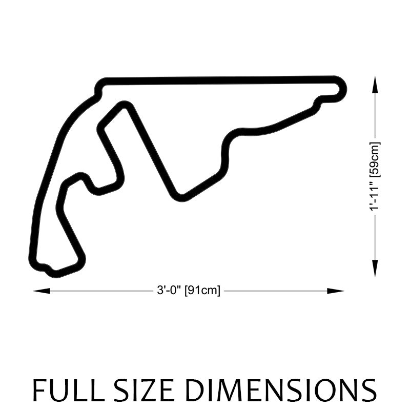 Yas Marina Circuit | Abu Dhabi Grand Prix Track Sculpture Full Size Dimensions