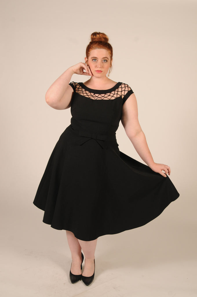 tatyana dress, plus size dress, fit and flare, plus fit and flare, vintage plus size dress
