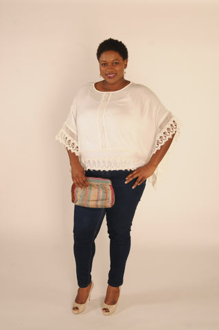 plus size crochet top, boho plus top, white top, plus size top