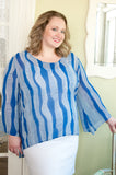 Wavy days tunic top