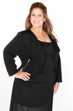 plus jacket, cropped jacket, black plus size jacket