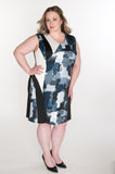 plus size women's dress graphic print
