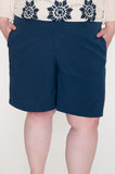 Navy two pocket trouser shorts