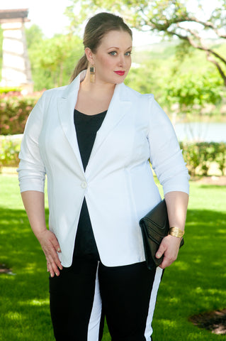 White stretch blazer