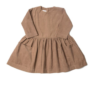 Pocket Dress - Brown Corduroy