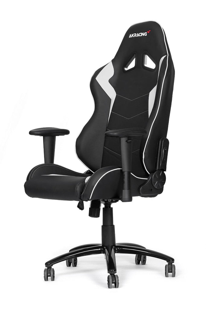 AKRACING AK-5050 Ergonomic Series Racing Gaming Office Executive Chair Black/White Edition