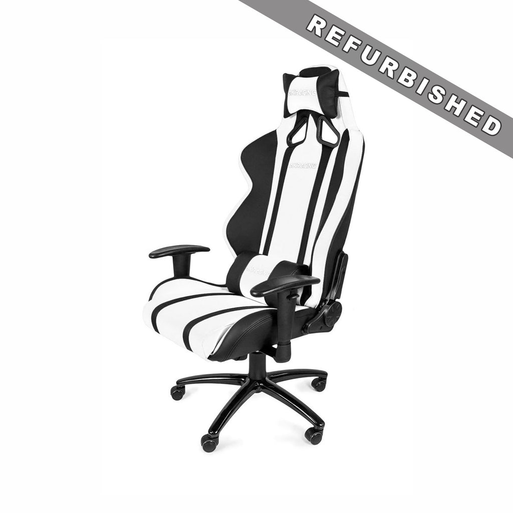 AKRACING AK-6011 Gaming Chair Black/White - REFURBISHED(1 YEAR WARRANTY)