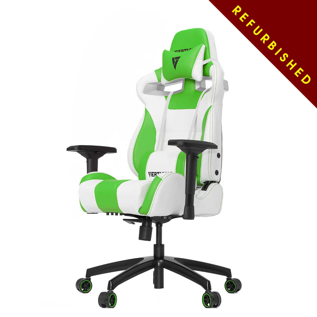 Vertagear S-Line SL4000 Racing Series Gaming Chair - White/Green-REFURBISHED ( 1 YEAR WARRANTY )