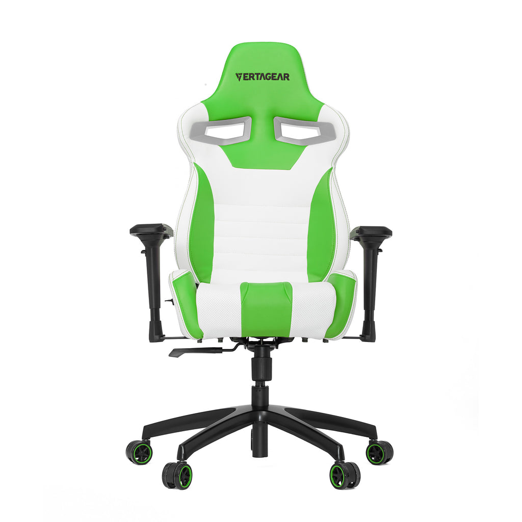 Vertagear S-Line SL4000 Racing Series Gaming Chair - White/Green (Rev. 2)