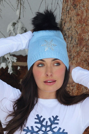 Snuxe Luxe SILVER SNOWFLAKE Beanie