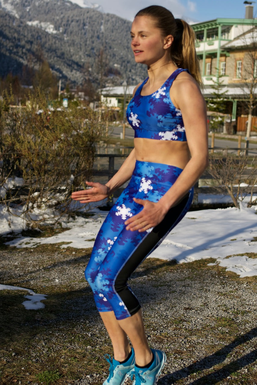 """Snow Camo"" Sports Bra Top"