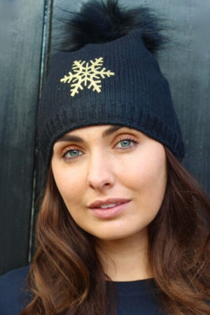 Snuxe Luxe GOLD SNOWFLAKE Beanie