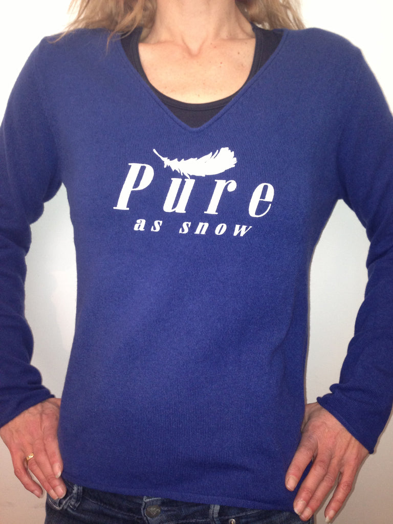 """Pure as Snow"" 100% Cashmere Knit"