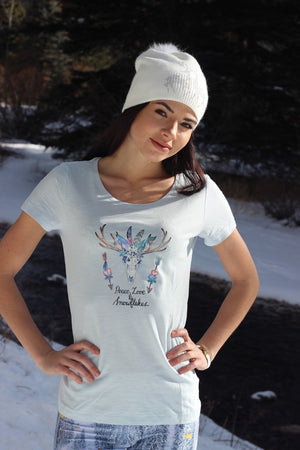 """Peace, Love and Snowflakes"" Tee"