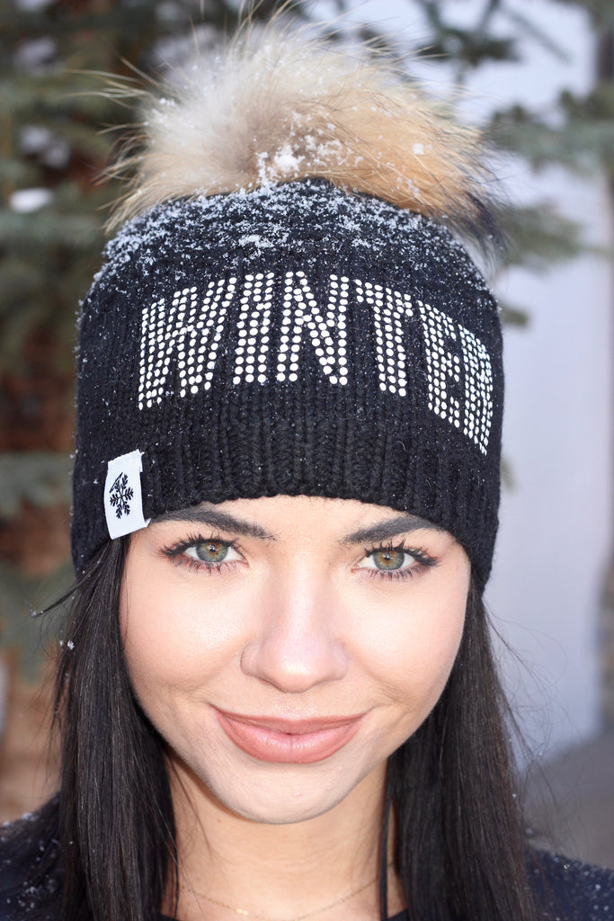 """WINTER"" Luxe Beanie in Jet Black"