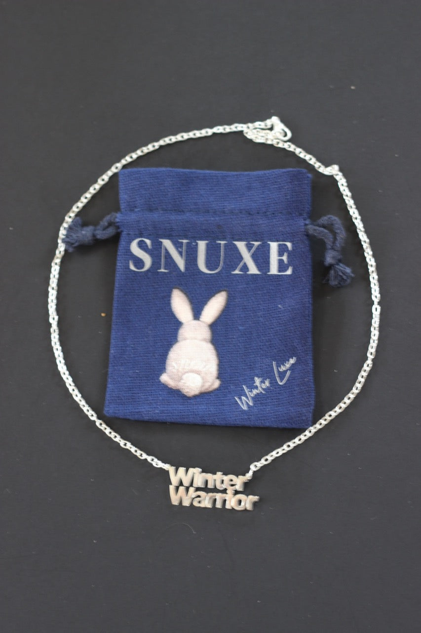 """WINTER WARRIOR"" Silver Necklace"