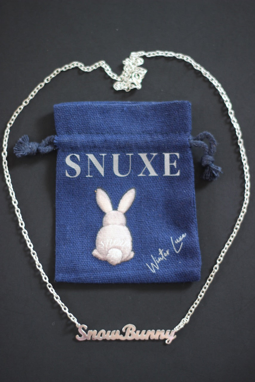 """SnowBunny"" Silver Necklace"