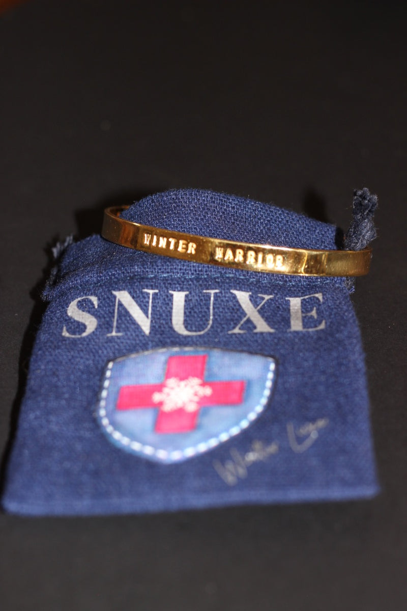 """WINTER WARRIOR"" Gold Cuff"