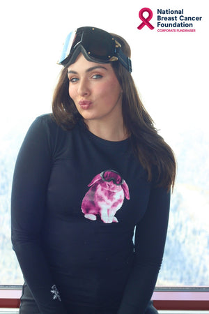 PINK SNOWBUNNY Fundraiser Tee Black