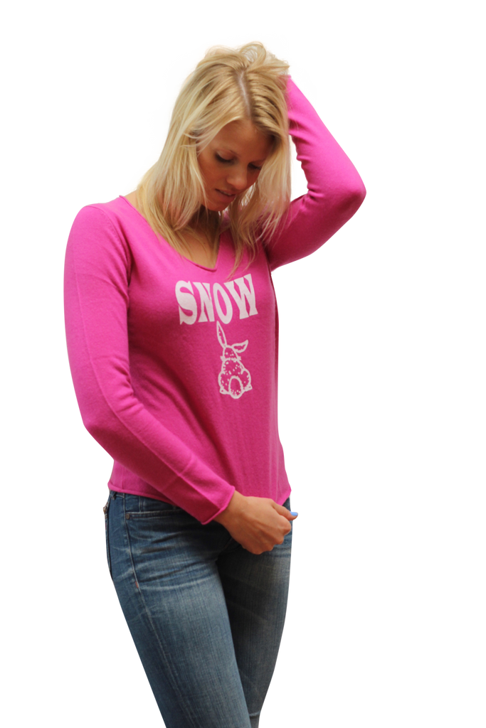 """Snow Bunny"" 100% Cashmere Knit"