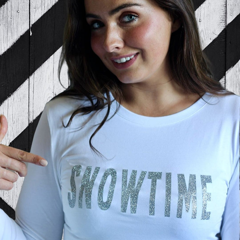 SNOWTIME Sparkle Tee White