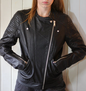 GO SKIING Vegan Leather Jkt