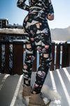 """APRES SKI CLUB"" Performance Leggings - Black"