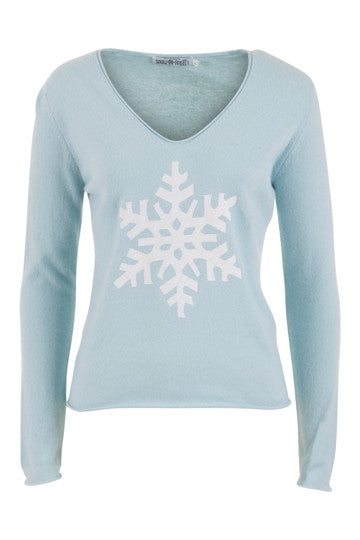 Unique Snowflake Cashmere in Softest Blue