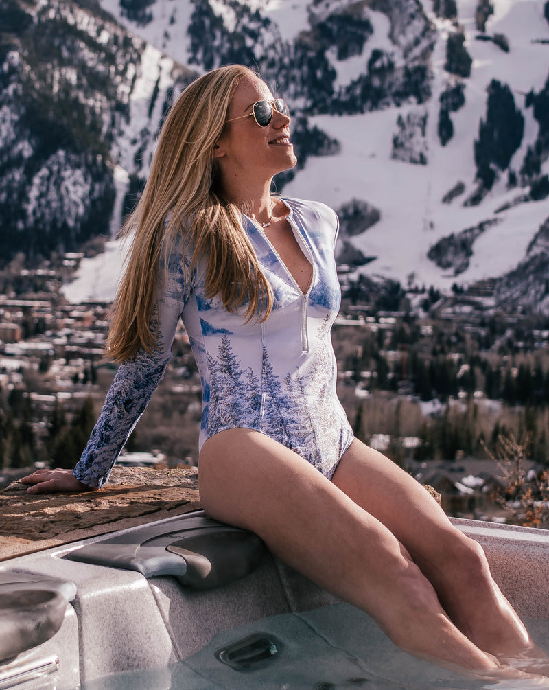 """The Mountains are Calling"" Watersports Suit"