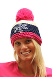 Pink Stripe Fleecy Lined Beanie