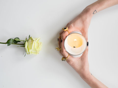 We've been bringing the scents of spring into our studio by burning Flora as we work