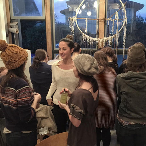 Post-talk mingling at Moonrise Creative