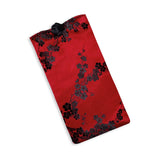 Eyeglass Pouch - Silk Brocade (cherry blossom red black)