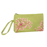 Wristlet - Embroidered Dandelion (golden olive peach)