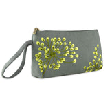 Wristlet - Embroidered Dandelion (stone citron)